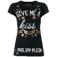 Philipp Plein Give me a kiss Tシャツ - ブラック