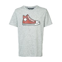 Mostly Heard Rarely Seen 8-Bit Red Chucks Tシャツ - グレー
