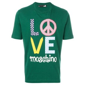 Love Moschino Peace and Love Tシャツ - グリーン