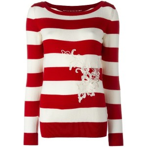 Ermanno Scervino ボーダー柄 セーター - レッド