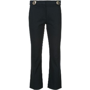 Derek Lam 10 Crosby Cropped Flare Trouser With Grommet Detail - ブルー