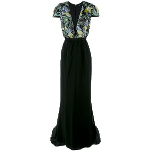 Tufi Duek embroidered silk gown - Unavailable