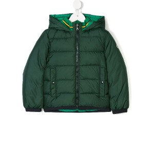 Moncler Kids ダウンパーカー - グリーン
