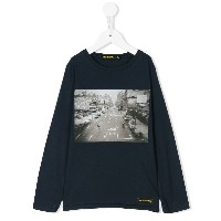 Finger In The Nose プリント ロングTシャツ - ブルー