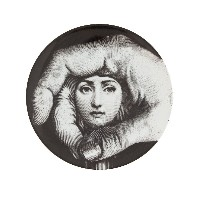 Fornasetti グラフィックプリント 皿 - グレー