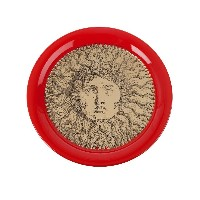 Fornasetti Sole gold red トレー - レッド