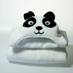 Little Ashkim Panda Hooded Towel (2T-5T) by Little Ashkim