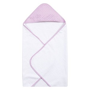 Trend Lab Orchid Bloom Dot Hooded Towel, Purple by Trend Lab