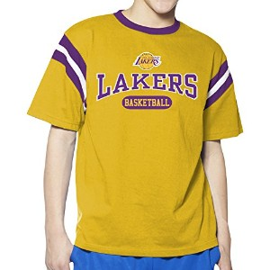 NBA YouthインセットShoulder Short Sleeve Pieced Tee XL イエロー