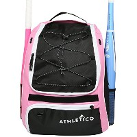 Athletico Softball Bat Bag–バックパックforソフトボール、野球、&ティーボール機器& Gear forキッズ、子供用、大人| Holds Bat、ヘルメット、グローブ...