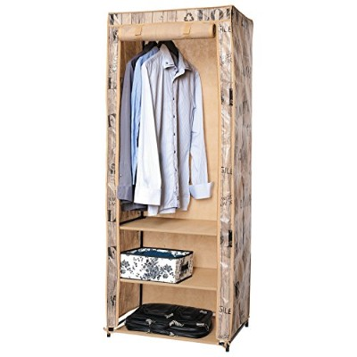 ArtMoon Loft Canvas Wardrobe Foldable Water Repellent Cover 61x45x155cm Painted Steel/Plastic/Polyester