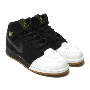 NIKE AIR JORDAN 1 MID GG(ナイキ エア ジョーダン 1 ミッド GG)BLACK/METALLIC GOLD-WHITE-GUM MED BROWN【キッズ スニーカー...