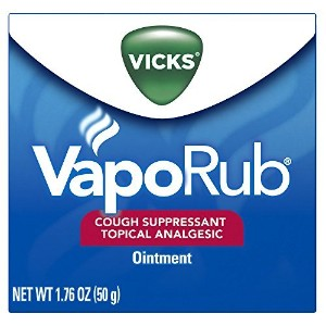 Vicks Vaporub Cough Suppressant Topical Analgesic Ointment 1.76 Oz, (50G) (Pack Of 3) by Vicks