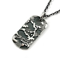 【COMMAND】HIDE SKULL DOG TAG(LARGE SIZE)/メンズ ネックレス シルバー925