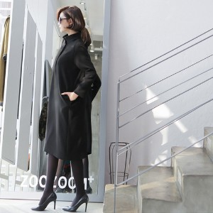 [zoozoom] Double high-neck suit dress 2color / 28365