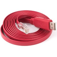 Ciscoルータ用コンソールケーブルH3C HUAWEI Fortinet Juniper Routeロールオーバーケーブル (Red Console Cable)