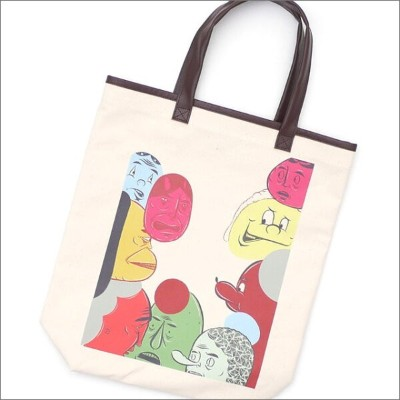 COMME des GARCONS HOMME DEUX コムデギャルソン オムドゥー x Barry McGee FACE TOTE BAG KNR 277002474010x【新品】