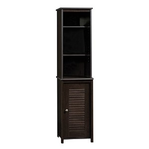 Peppercorn Linen Tower, Cinnamon Cherry Finish with Cascade Granite Finish Accent by Sauder