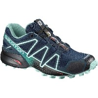 サロモン レディース ランニング スポーツ Speedcross 4 Trail Running Shoe - Women's Poseidon/Eggshell Blue/Black