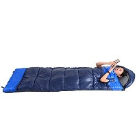 witlucky軽量Sleeping Bag for Adultバックパッキングキャンプ4Season with圧縮袋 ブルー