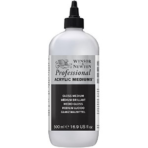 Winsor & Newton Professional Acrylic Gloss Medium, 500ml by Winsor & Newton