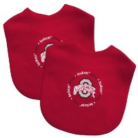 Baby Fanatic Team Color Bibs, Ohio State University, 2-Count by Baby Fanatic