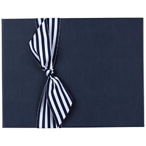 Tessera Baby Books Memory Book with Stripe Grosgrain Ribbon, Blue/White by Tessera Baby Books