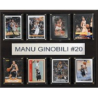 NBA San Antonio Spurs Manu Ginobili 8-card Plaque、12 x 15インチ
