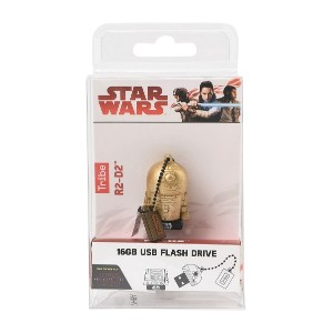 ユニセックス TRIBE STAR WARS GOLD COLLECTION - R2-D2 16 GB USBメモリー ゴールド