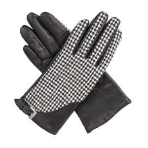 デンツ レディース 手袋・グローブ【Gloves With Touchscreen Leather】black/white