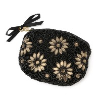【ル ジュール(LE JOUR)】 【CACHELLIE】FLOWER BIJOUX COIN CASE 【CACHELLIE】FLOWER BIJOUX COIN CASE ブラック