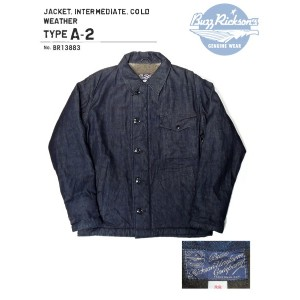 BUZZ RICKSON'S(バズリクソズ)JACKET.INTERMEDIATE,COLD WEATHER TYPE A-2/BR13883-421)A/NAVY【2017AW.ver】