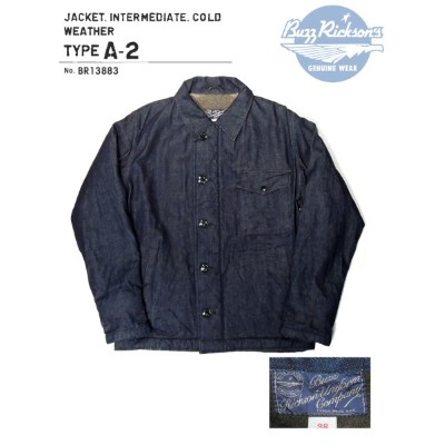 BUZZ RICKSON'S(バズリクソズ)JACKET.INTERMEDIATE,COLD WEATHER TYPE A-2/BR13883-421)A/NAVY Made in Japan