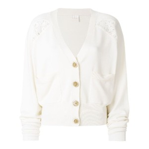 Chloé lace-trimmed cardigan - ホワイト