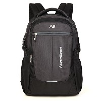 ASPENSPORT パソコンバックパック Laptop Backpack ビジネス リュック 高校生 登山 出張 旅行かばん 通学通勤 スポーツ ギフト 黒/グレー AS-B36B/G