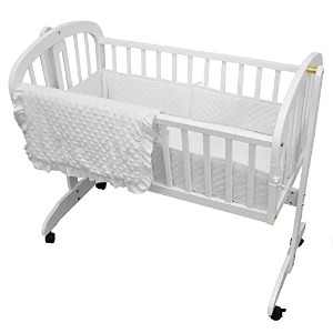 TL Care Heavenly Soft Minky Dot 3 Piece Cradle Set, White by TL Care