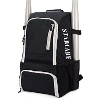 starcare野球バッグBat Pack fo youth大人、softeball機器バックパック ブラック