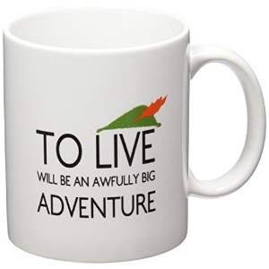 Geek詳細to Live Will be an awfully big adventureコーヒーマグ、11オンス、ホワイト