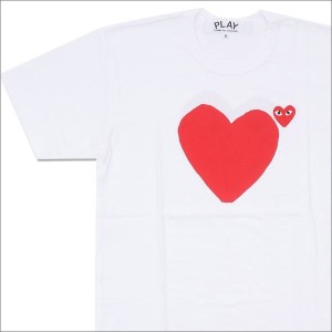 PLAY COMME des GARCONS (プレイ コムデギャルソン) RED HEART TEE (Tシャツ) WHITE 200-007096-040x【新品】