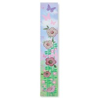 The Kids Room by Stupell Flowers and Butterflies and Birds Growth Chart by The Kids Room by Stupell