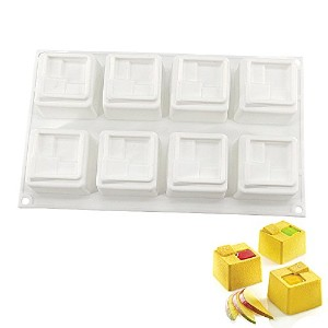 New Arrival White Silicone Cake Mold for Baking and Blast Chilling Chocolate Mousse Chiffon Pastry...
