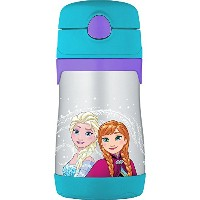 THERMOS Vacuum Insulated Stainless Steel 10-Ounce Straw Bottle, Frozen [並行輸入品]