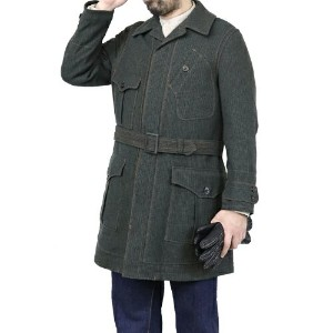 FREEWHEELERS フリーホイーラーズ ORVILLE 1910-1920s OVERCOAT GRAINED TWEED GRAINED KHAKI × BLACK × GREEN