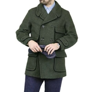 FREEWHEELERS フリーホイーラーズ STIEGLITZ LATE 1800s DOUBLE BREASTED COAT COTTON WOOL MELTON BACK SATIN...