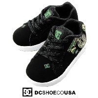 DC SHOES COURT GRAFFIK ELASTIC UL ブラック/カモ