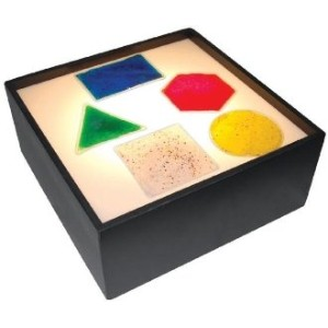 SENSORY STIMULATION CLEAR GEOMETRIC GEL SHAPES by Special Needs Visual & Tactile Gel Shapes