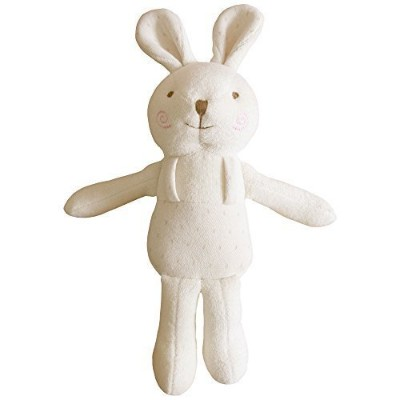 (Lovely Rabbit) 100% Organic Cotton Baby First Doll 11 inches (No Dyeing Natural Organic Cotton) by JOHN N TREE Organic