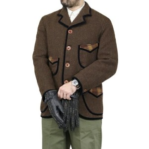 FREEWHEELERS フリーホイーラーズ STEINBECK LATE 1800s MADE TO ORDER SACK COAT HEAVY WEIGHT MIX TWEED DOUBLE...