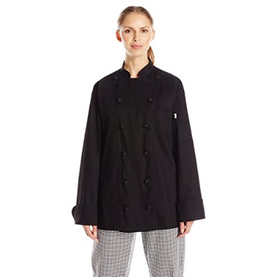 Uncommon Threads 0425C-0105 Executive Chef Coat in Black - XLarge