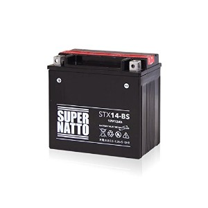 SUPER NATTO / STX14-BS (YTX14-BS YTX14H-BS GTX14-BS FTX14-BS FTZ14-BS 12V14-B互換) バイク用バッテリー 密閉型MF...